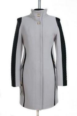 8c50b341f65 09-0557 Пальто женское демисезонное Кашемир Светло-серый