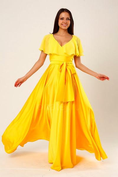 Желтое платье luisa cerano