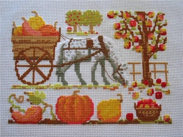 Схема вышивки волшебной лошадки