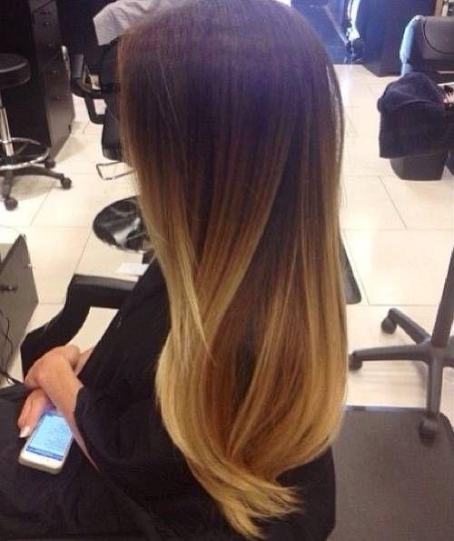 Стрижки с амбре на длинные волосы