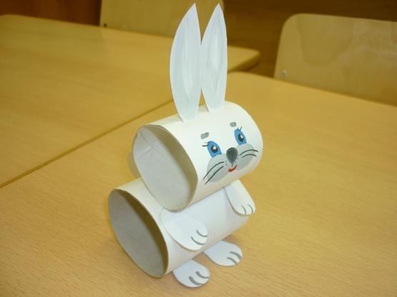 Поделка заяц из бумаги