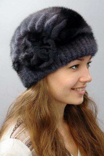 Меховые вязаные шапки женские своими руками