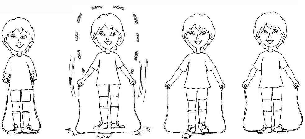 Схема прыжков на скакалке картинки