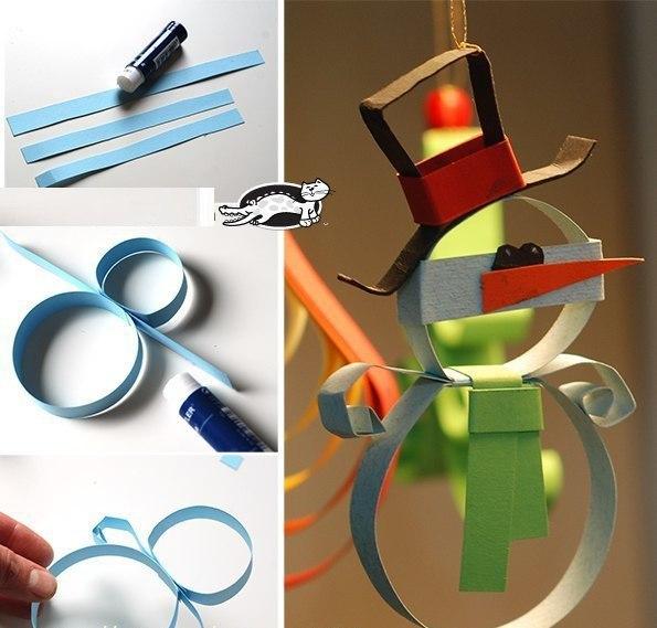 Поделки из бумаги новогодние игрушки своими руками