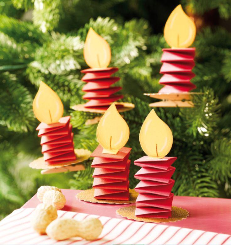 Новогодние простые игрушки своими руками из бумаги