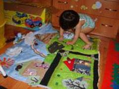 Развивающий коврик своими руками с